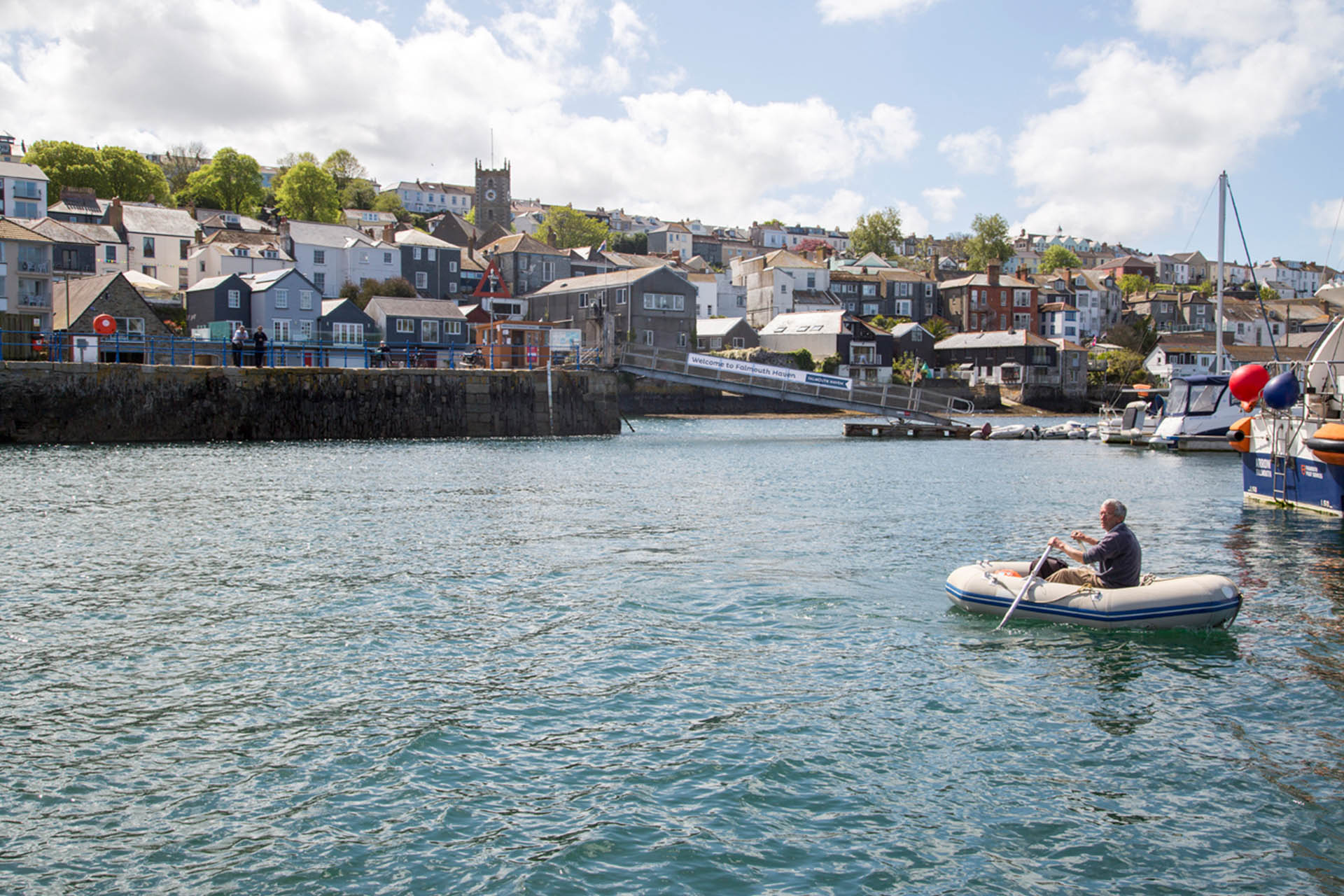 Falmouth-Haven-marina-pontoon-access